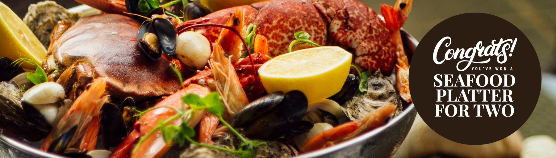 Win a Seafood Platter for Two